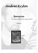 7 Romances for classical guitar. Two for violin and guitar. Music by Andrei Krylov
