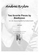 Two favorite pieces by Beethoven (Für Elise and Moonlight Sonata adagio) arranged for classical guitar